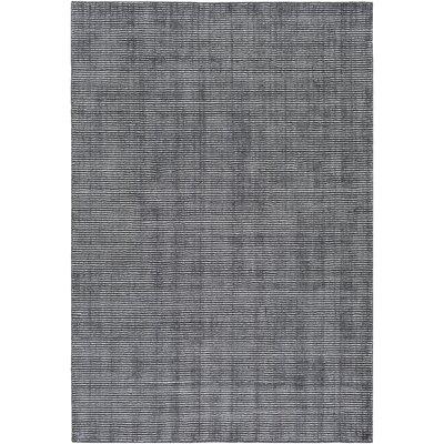 East Palatka Hand-Loomed Black Area Rug Rug size: 5 x 76