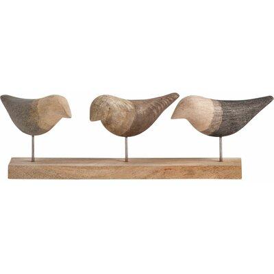 Traditional Wood Bird Sculpture
