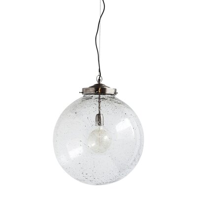 Shamong 1-Light Traditional Globe Pendant