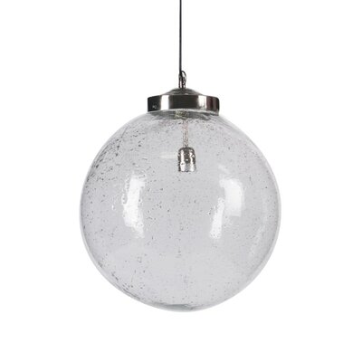 Shamong 1-Light Metal Globe Pendant
