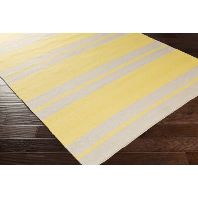 Makrasyka Hand Woven Gold Indoor/Outdoor Area Rug Rug Size: Rectangle 2 x 3