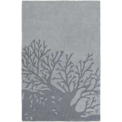 Charlestown Hand-Tufted Medium Gray/Charcoal Area Rug Rug size: 33 x 53
