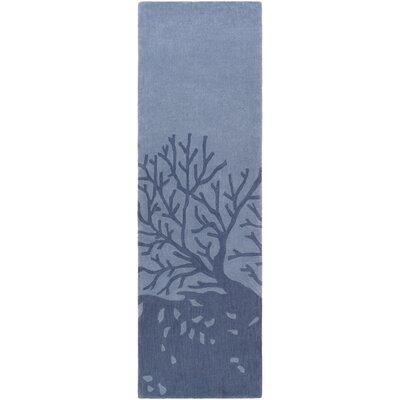 Methuen Hand-Tufted Denim/Navy Area Rug Rug size: Runner 26 x 8