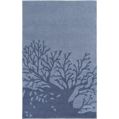 Charlestown Hand-Tufted Denim/Navy Area Rug Rug size: 4 x 6