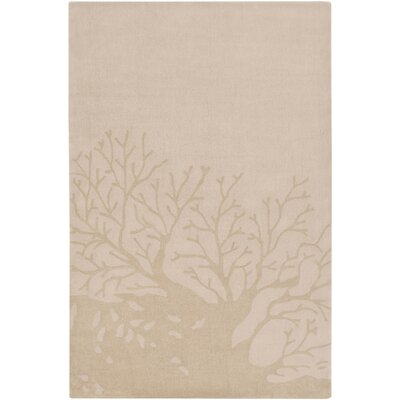 Charlestown Hand-Tufted Blush/Khaki Area Rug Rug size: 2' x 3'
