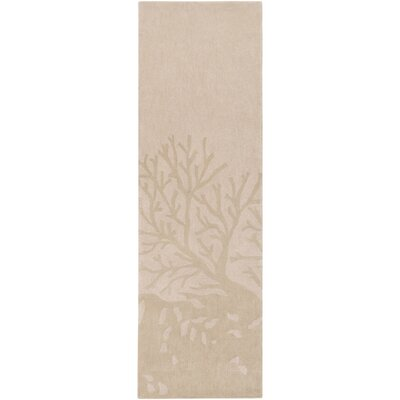 Methuen Hand-Tufted Blush/Khaki Area Rug Rug size: Runner 26 x 8