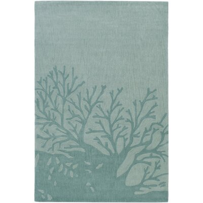 Charlestown Hand-Tufted Light Gray/Sage Area Rug Rug size: Rectangle 2 x 3