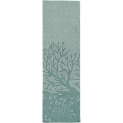 Charlestown Hand-Tufted Light Gray/Sage Area Rug Rug size: Runner 26 x 8