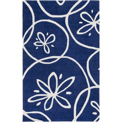 Methuen Hand-Tufted Dark Blue/Ivory Area Rug Rug size: 4 x 6