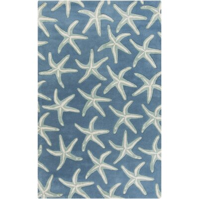 Clare Hand-Tufted Denim/Khaki Area Rug Rug Size: Rectangle 2 x 3