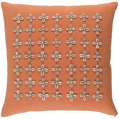 Cherwell Cotton Pillow Cover Size: 20 H x 20 W x 0.25 D, Color: Orange