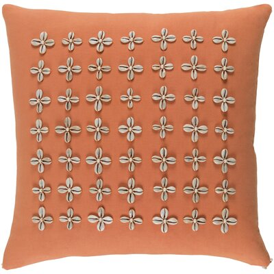 Cherwell Square Cotton Throw Pillow Size: 20 H x 20 W x 4 D, Color: Orange
