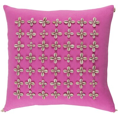 Cherwell Square Cotton Throw Pillow Size: 20 H x 20 W x 4 D, Color: Pink