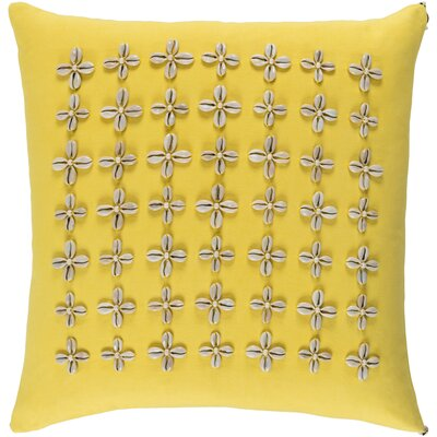 Cherwell Square Cotton Throw Pillow Size: 20 H x 20 W x 4 D, Color: Yellow