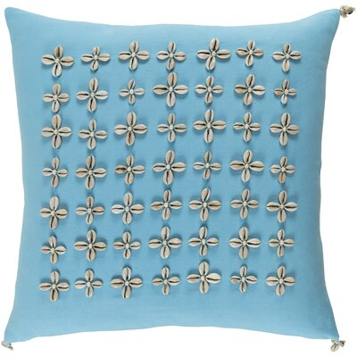 Cherwell Square Cotton Throw Pillow Size: 22 H x 22 W x 4 D, Color: Blue