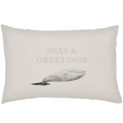 Chiaramonte Indoor/Outdoor Humpback Whale Lumbar Pillow Color: Neutral