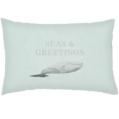 Chiaramonte Indoor/Outdoor Humpback Whale Lumbar Pillow Color: Green