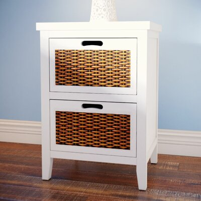 St. Leo 2 Drawer Nightstand Color: White