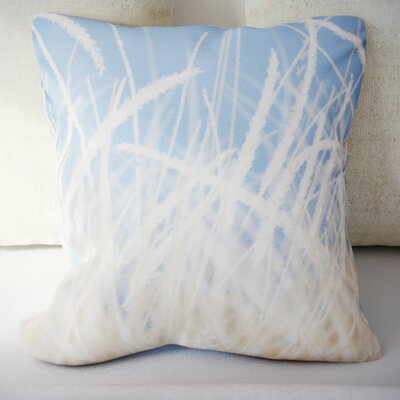 Cedarville Grass 1 Throw Pillow Size: 16 H x 16 W, Color: Aqua