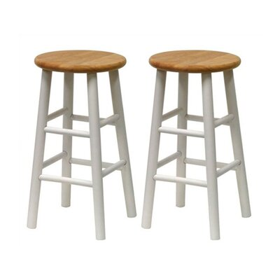 Wynyard 24 Bar Stool Finish: White