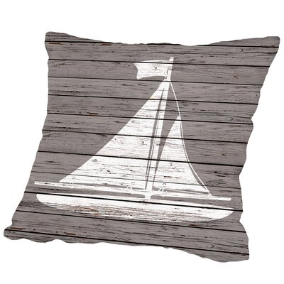 Harrisburg Wood Quad Sailboat Outdoor Throw Pillow Size: 18 H x 18 W x 2 D