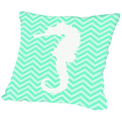 Montville Sea Chevron 2 Outdoor Throw Pillow Size: 16 H x 16 W x 2 D