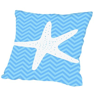 Montague Sea Chevron 3 Outdoor Throw Pillow Size: 16 H x 16 W x 2 D