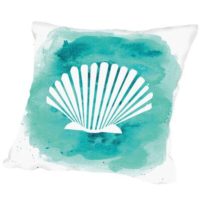 Stanfield Watercolor B Shell Outdoor Throw Pillow Size: 16 H x 16 W x 2 D