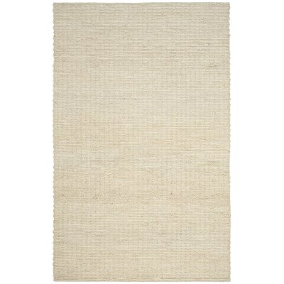 Briallen Hand-Woven Ivory Area Rug Rug Size: Rectangle 5 x 8