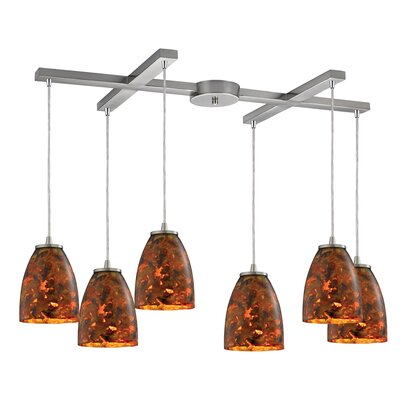 Creswell 6-Light Kitchen Island Pendant