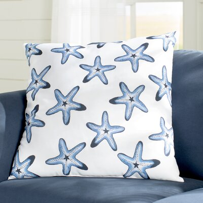 Rocio Soft Starfish Geometric Print Throw Pillow Size: 18 H x 18 W, Color: Blue