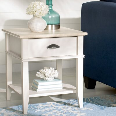 Montverde End Table with 1 Drawer Base Finish: Light Gray