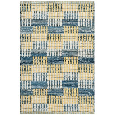 Todds Hand-Woven Gold Area Rug Rug Size: 5 x 8
