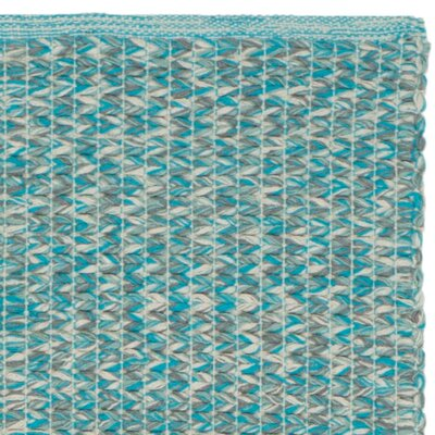 Alberta Hand-Woven Turquoise Cotton Pile Area Rug Rug Size: 9 x 12