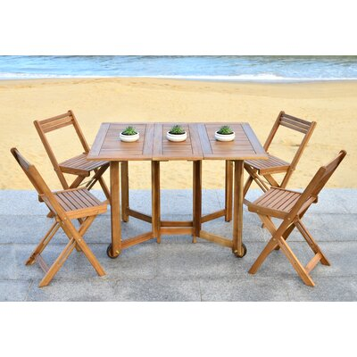 Laoise Gardens 5 Piece Dining Set Finish: Teak Look