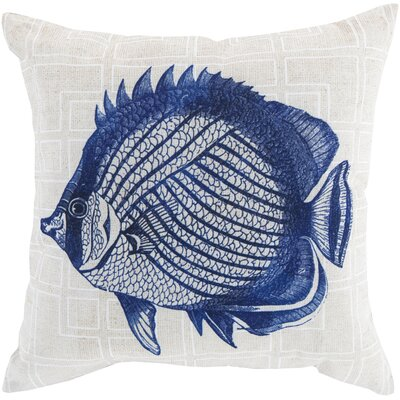 Chaucer Graphic Print Outdoor Throw Pillow Size: 18