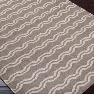 Chastain Taupe/Ivory Area Rug Rug Size: Rectangle 36 x 56