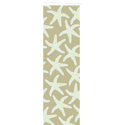 Ruthar Teal/Brown Indoor/Outdoor Area Rug Rug Size: 5 x 8