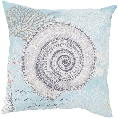 Chaucer Mesmerizing Sea Shell Outdoor Throw Pillow Size: 20