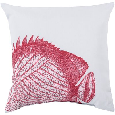 Chaucer Flawless Fish Outdoor Throw Pillow Size: 18 H x 18 W x 4 D
