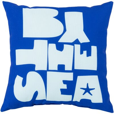 Chaucer by the Sea Outdoor Throw Pillow Size: 26 H x 26 W x 4 D, Color: Taupe/Sky Blue