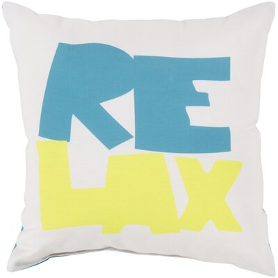Chaucer Just Relax Outdoor Throw Pillow Size: 20 H x 20 W x 4 D, Color: Mint/Cobalt