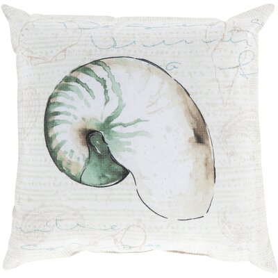 Chaucer Charm by the Sea Outdoor Throw Pillow Size: 26 H x 26 W x 4 D