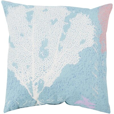 Chaucer Eye Catching Coral Outdoor Throw Pillow Size: 20 H x 20 W x 4 D