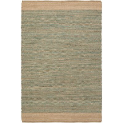 Charlemont Hand-Woven Teal/Khaki Area Rug Rug size: Rectangle 4 x 6