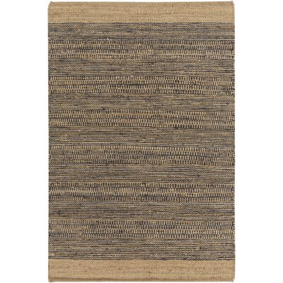 Boughner Hand-Woven Navy/Khaki Area Rug Rug size: Rectangle 5 x 76