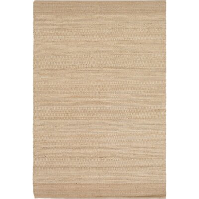 Boughner Hand-Woven Cream/Khaki Area Rug Rug size: Rectangle 8 x 10
