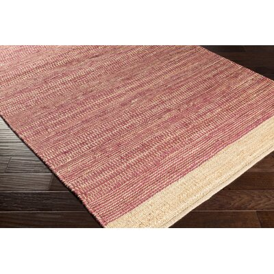 Boughner Hand-Woven Fuschia/Khaki Area Rug Rug size: Rectangle 4 x 6