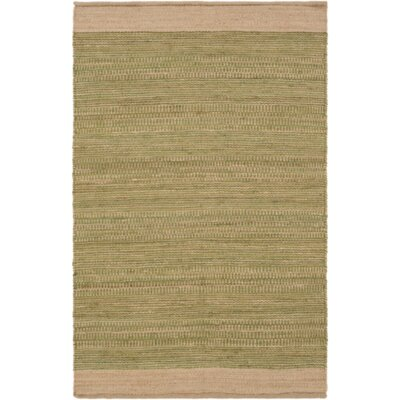 Boughner Hand-Woven Grass Green/Khaki Area Rug Rug size: Rectangle 2' x 3'