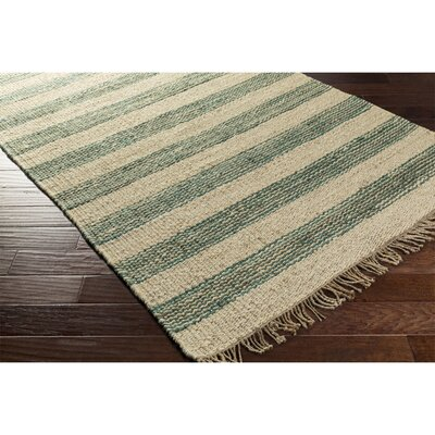 Boughner Hand-Woven Blue/Neutral Area Rug Rug Size: Rectangle 5 x 76